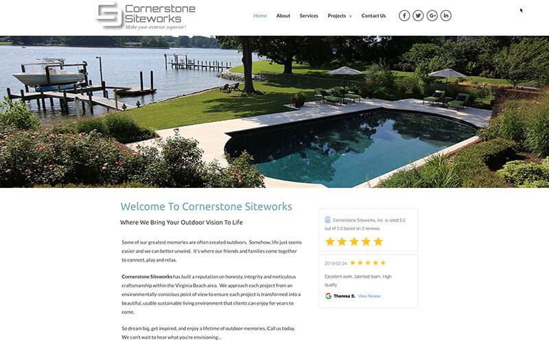 Cornerstone Siteworks Web Design